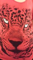 Red Tiger Face by AuraWolf87