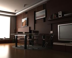 Brown interior by 3dchris89