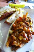 Montreal Smoked Meat n Poutine by Gynormus-Cranius