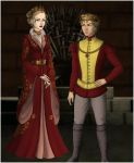 Queen Regent Cersei and King Joffrey by DimkaLuvvv