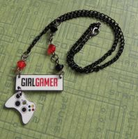 Girl Gamer Xbox Necklace by PlayBox-Designs