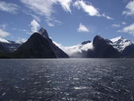 Mitre Peak at Milford Sound by Henai