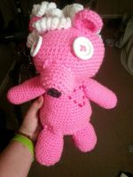 Pink Teddy Commission 1 by CrotchetyCrocheting