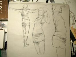 clothed figures by Fenster