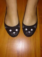 Cat face shoes by ArcanaFox