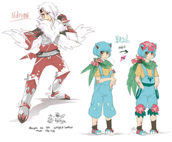 gijinkas concepts absol n venusaur by mr-tiaa