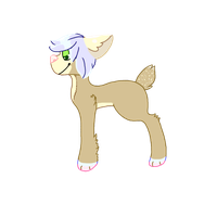 Deer Dog Adoptable by archae0pteryx