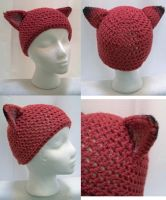 Tawny Red Fox Beanie by user-name-not-found