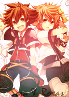 Sora and Roxas edit by SoraxRoxas19