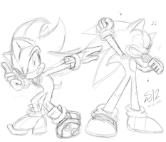 Sonic Shadow Fun Time Doodle by ShadowReaper12