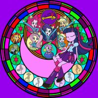 MLP Equstria Girls windowglass by sasukefan101