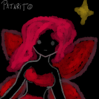 The shadow dressed in red by Pajarito-Alvarez