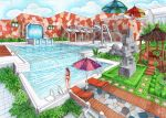 exterior: swimming pool by mielru