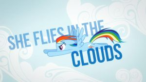 She likes clouds Wallpaper 1 by DabuXian