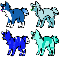 Blue Dog Adopts ..::OPEN::.. by love-the-adopts