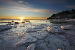 Winter at Gros Cap by tfavretto