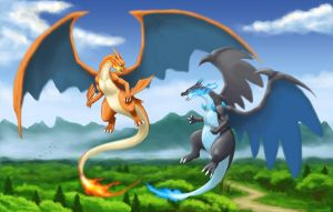 Mega Charizard Clash by Mang0l0v3r