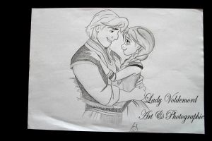 Anna and Kristoff from Frozen by LadyVoldemord