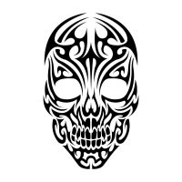 Tribal Skull by Shadow696