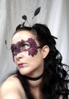 Bird of paradise masquerade mask by gringrimaceandsqueak