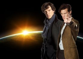 Doctor and Sherlock space WP by drawingdream