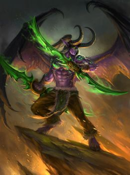 Illidan by sandara