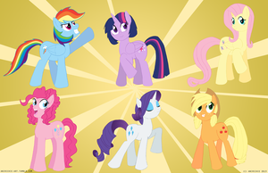 MLP - Mane 6 Style Redesigns by AniRichie-Art