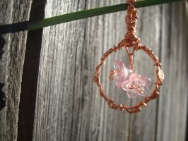 Swirled Sap and Flowering Lucite pendant by TheWingedBoggart