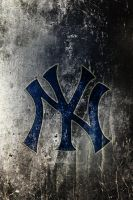 NY yankeesLogo on texture 253 by drouell