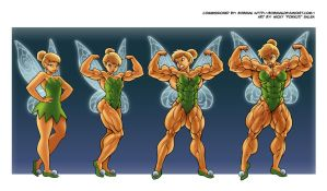 Tinker Bell By Pokkuti, Morph by Nattevandrer by Nattevandrer