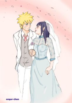 NaruHina wedding for contest by Angor-chan