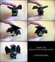 Toothless (Nightfury) keychain by PrussianBlackEagle