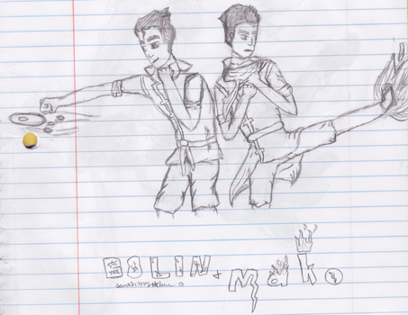 Bolin and Mako by Mass-Effect-lover