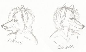 Artimis And Seluncas heads by selunca