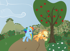 Race Through the Apple Orchard by Kittita