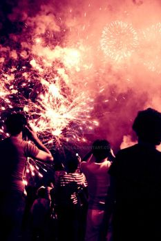 the beauty of fireworks by oflaciella