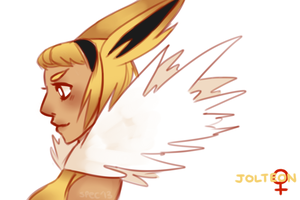 jolteon gijinka by MewEclair