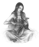 Elvish bard by Ilraeth