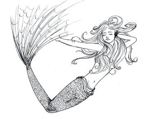 Real Mermaids Coloring Pages Realistic Coloring Pages