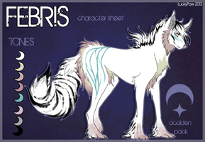 Febris ref. sheet by LuckyPaw