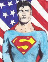 Christopher Reeve as Superman by danlewis4475