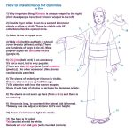 How to draw kimono for dummies by Elruu