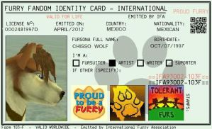 Furry Fandom ID Card by danyMVG