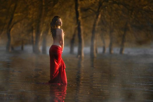 The bather by Chris-Lamprianidis