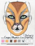 Cougar Makeup Sketch by toberkitty