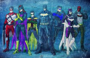 Bat Family Elseworlds by twainofdave