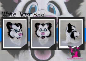 White tiger partial by FurryFursuitMaker