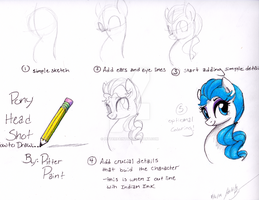 How to Draw Pony Headshot by PitterPaint