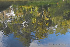 Watercolor Moat's Reflection by SuperSonicHero10