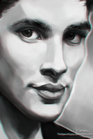 Colin Morgan - Photoshop Study by StarshipSorceress